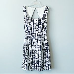 Antonio Melani Keyhole Back Geo Print Dress